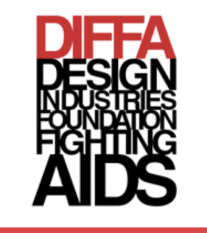 DIFFA's red and black logo block